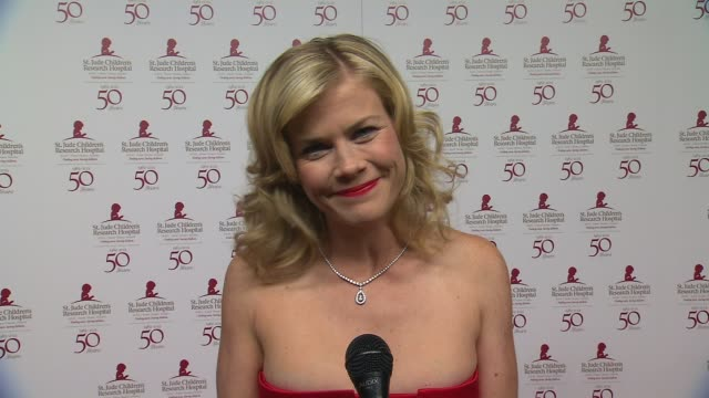 Alison Sweeney shout out to St Jude at St Jude Children's Research Hospital 50th Anniversary Gala Benefit on 1/7/2012 in Beverly Hills CA