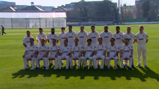 alistair cook in team photo with essex county cricket club - team photo stock videos & royalty-free footage