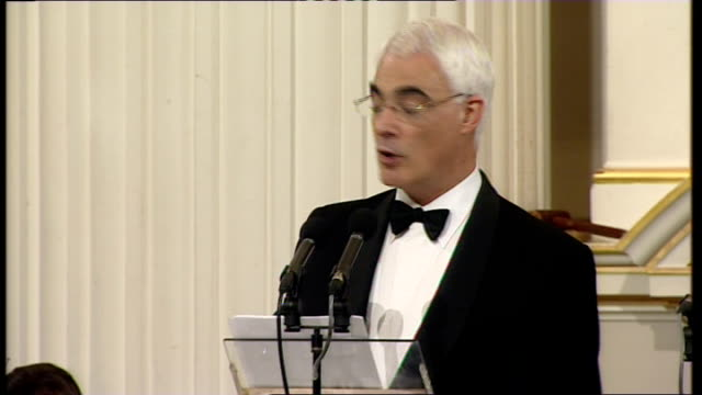 alistair darling and mervyn king speeches alistair darling mp speech sot my lord mayor ladies and gentlemen it is an honour to be with you again... - single rose stock videos & royalty-free footage