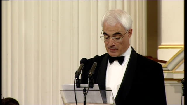 alistair darling and mervyn king speeches; darling speech sot - in the autumn, major banks were on the brink of collapse. had they been allowed to... - human back stock videos & royalty-free footage