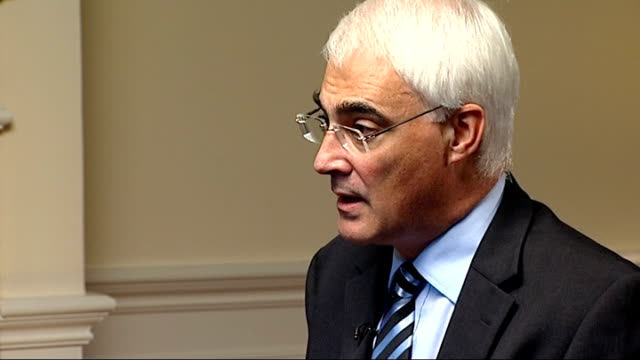 alistair darling interview cutaways england london int cutaways of alistair darling mp during interview close up shots of his hands eyes - alistair darling stock videos & royalty-free footage