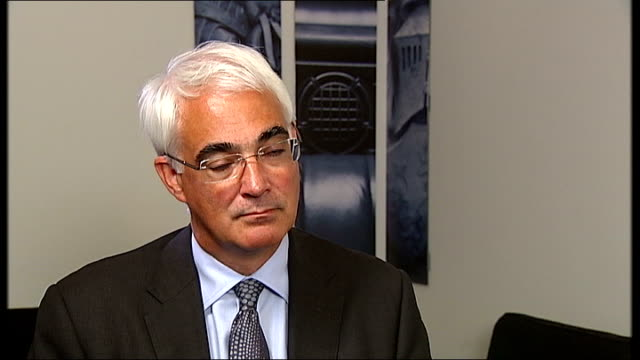 alistair darling interview on his diaries back from the brink england london int alistair darling mp interview sot no i wanted to write a book that... - alistair darling stock videos & royalty-free footage