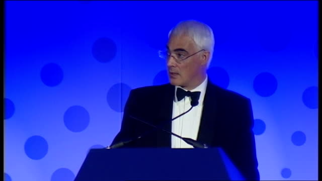 alistair darling speech at cbi scotland annual dinner; alistair darling mp speech sot when it comes to the issue of bank bonuses and pay, we need... - economy class stock videos & royalty-free footage