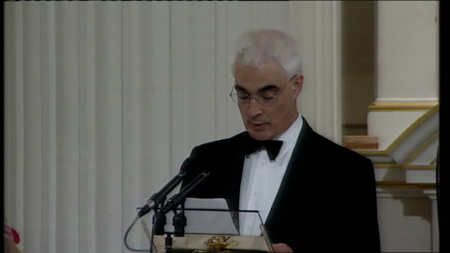 alistair darling speech to city of london but lord mayor the global nature of inflation today highlights how the economic challenges we now face are... - lord mayor of london city of london stock videos & royalty-free footage