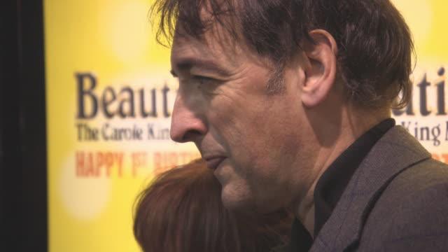 alistair mcgowan at beautiful-the carole king musical's birthday celebrations at aldwych theatre on february 23, 2016 in london, england. - アリステア マクゴワン点の映像素材/bロール