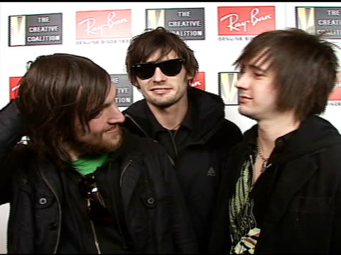 all american rejects at the 2007 ray-ban visionary award in association with the creative coalition at harry o's in park city, utah on january 21,... - the all american rejects stock videos & royalty-free footage