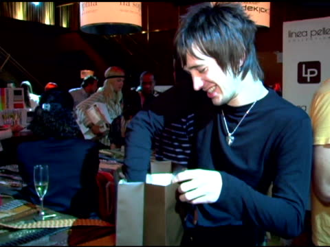 all american rejects at the polaroid lounge and gifting suite at marquee in new york, new york on august 30, 2006. - the all american rejects stock videos & royalty-free footage