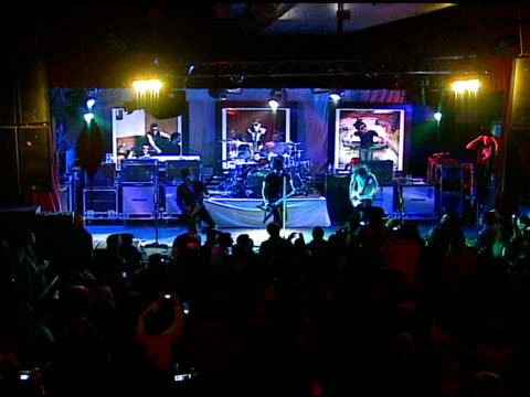 all american rejects perform at the 2007 ray-ban visionary award in association with the creative coalition at harry o's in park city, utah on... - the all american rejects stock videos & royalty-free footage