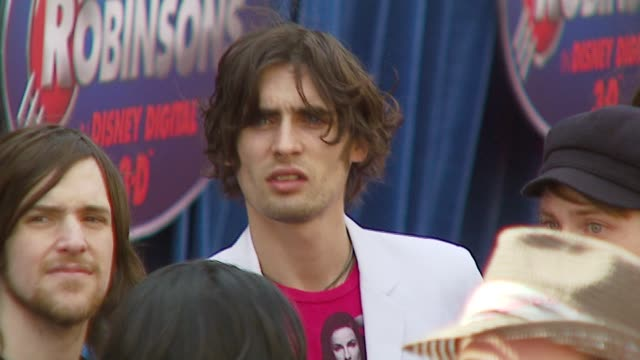 all american rejects - tyson ritter at the 'meet the robinsons' premiere at the el capitan theatre in hollywood, california on march 25, 2007. - the all american rejects stock videos & royalty-free footage