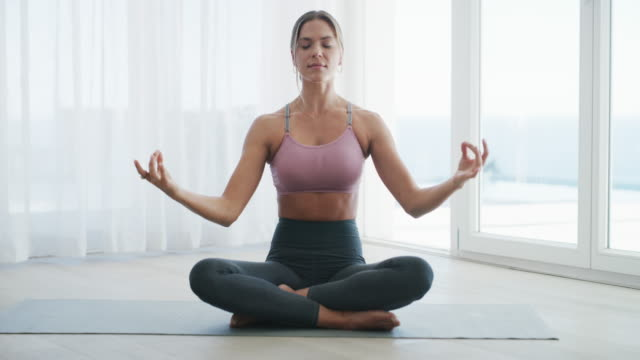 all is calm, all is right - yoga stock videos & royalty-free footage