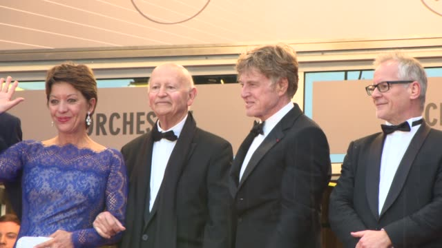 clean 'all is lost' red carpet cannes france 5/22/2013 - sibylle szaggars stock-videos und b-roll-filmmaterial