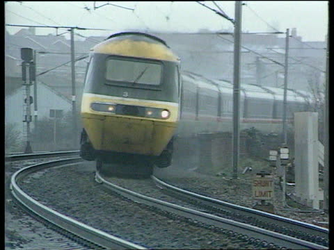 All Party report on rail privatisation comes under fire ITNLIB Intercity towards along round curve