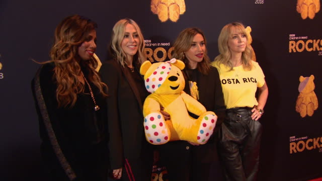 vidéos et rushes de all saints at bbc children in need rocks - charity concert on november 7, 2018 in london, england. - bbc children in need