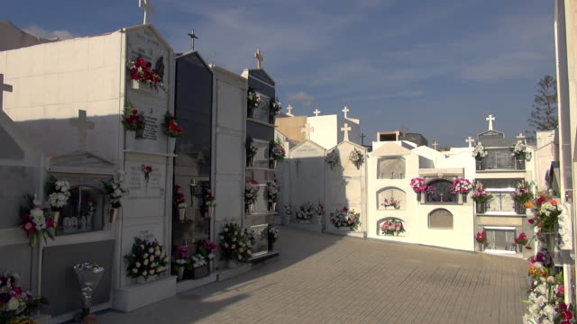 vídeos y material grabado en eventos de stock de all saints day at the salobrena cemetery - cementerio