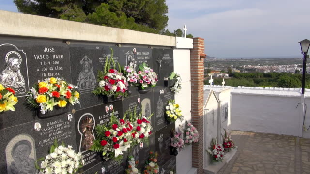 All Saints Day at the Salobrena cemetery