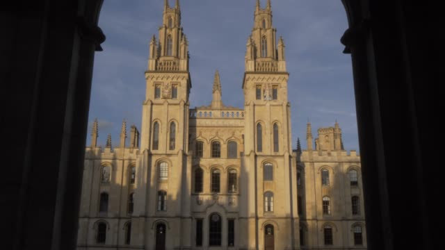 all souls college, oxford, oxfordshire, england, united kingdom, europe - oxford university stock videos & royalty-free footage
