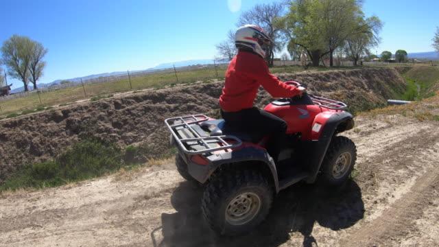 all terrain vehicle, atv, quadbike - quadbike stock videos & royalty-free footage