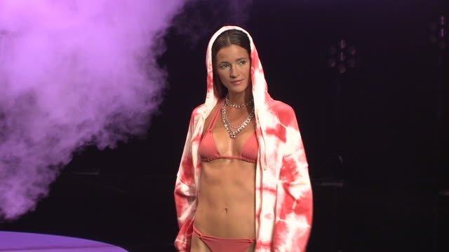 runway - day 3 - 'moda calida' in gran canaria - swim week - week video stock e b–roll