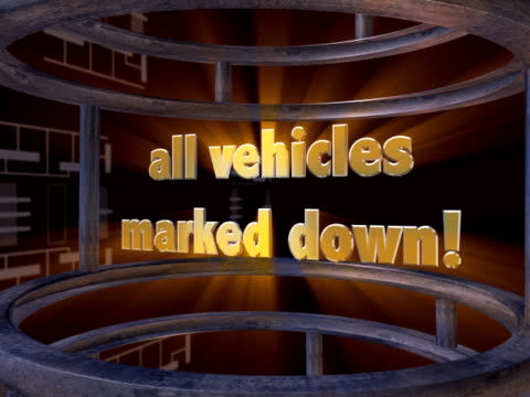 stockvideo's en b-roll-footage met all vehicles marked down 2 - toonzaal