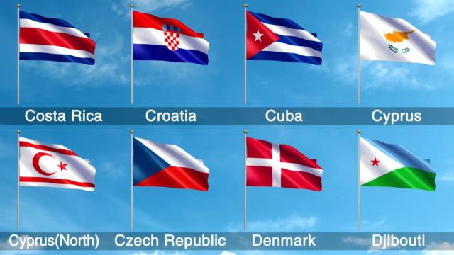 Alle wereld vlaggen Set + Alpha Channel (loopbare)