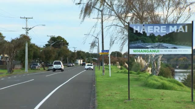 all you need roadside welcome sign at entrance to whanganui city north island new zealand - entrance sign stock videos & royalty-free footage