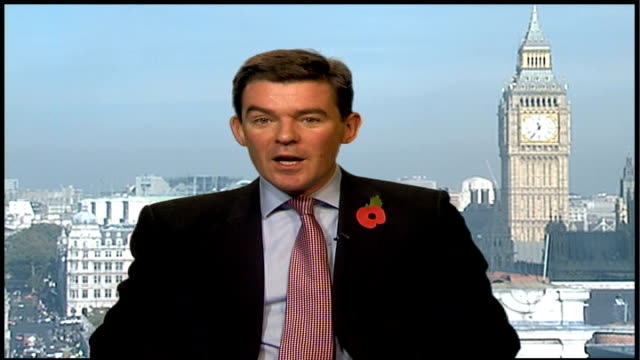 alleged billion-pound vat discrepancy in budget; england: london: hugh robertson mp 2-way interview sot - was assured that there would be no vat... - vat stock videos & royalty-free footage
