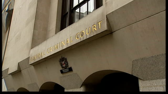 alleged blackmail plot against royal family member the old bailey ext dome of central criminal court with trees in foreground entrance to court... - gilded stock videos & royalty-free footage