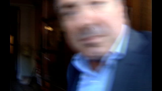 alleged boris berezovsky assassination plot england london ext boris berezovsky through press scrum and into building boris berezovsky into press... - assassination stock videos and b-roll footage
