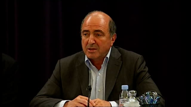 alleged boris berezovsky assassination plot int boris berezovsky press conference sot scotland yard officers informed me that there was a plot to... - assassination stock videos and b-roll footage