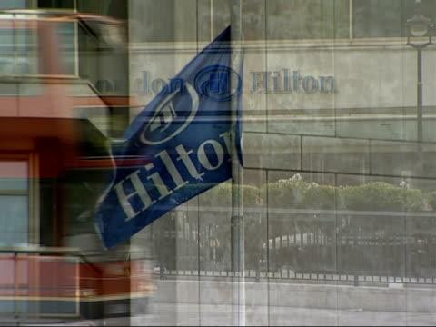 alleged boris berezovsky assassination plot park lane hilton hotel as traffic along - assassination stock videos and b-roll footage