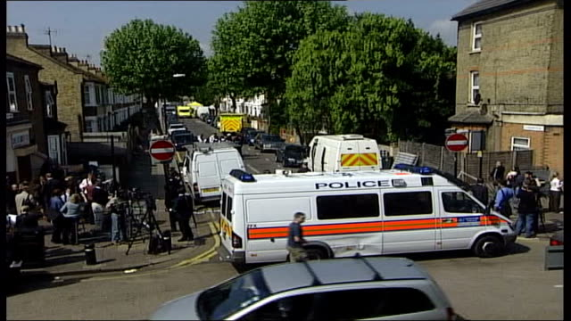 Alleged chemical bomb factory raided in East London Suspect shot General view of forensic tent outside number 46 and number 48 Lansdown Road Close...