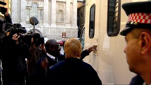 vídeos de stock, filmes e b-roll de alleged rogue trader kweku adoboli arrives at court ****flash london ext media around prison van carrying alleged rogue trader kweku adoboli / kweku... - algema
