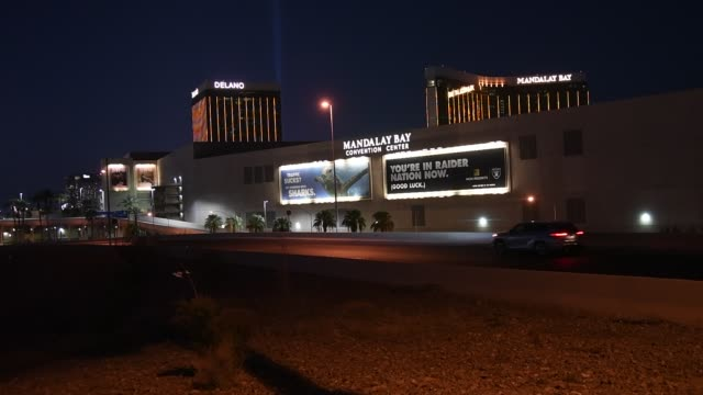 allegiant stadium the usd 2 billion000seat home of the las vegas raiders is shown west of delano las vegas at mandalay bay resort and casino and... - the strip las vegas stock videos & royalty-free footage
