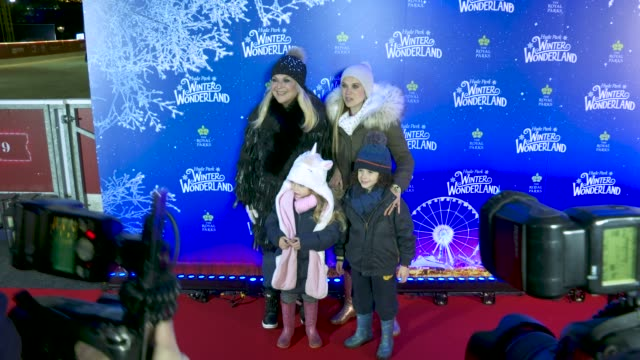 allegra benitah, vanessa feltz at hyde park winter wonderland - vip launch at hyde park on november 20, 2019 in london, england. - vanessa feltz stock videos & royalty-free footage