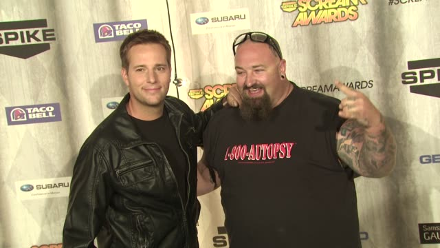 allen lee haff and clinton jones at the spike tv's 'scream awards at universal city ca - universal city stock videos & royalty-free footage