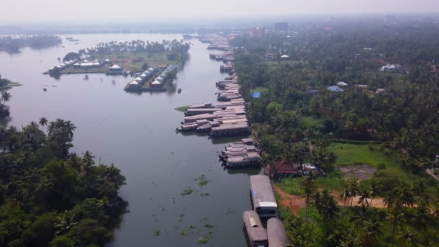alleppey, kerala, india - canal stock videos & royalty-free footage
