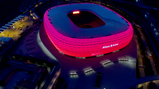 allianz arena, drone - munich stock videos & royalty-free footage