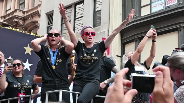NY: The U.S. Women's National Soccer Team Victory Parade and City Hall Ceremony
