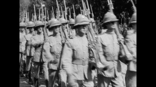 allied british soldiers marching on streets of constantinople. allied american troops marching outside . wwi, world war i, treaty of sevres - turkey middle east stock videos & royalty-free footage