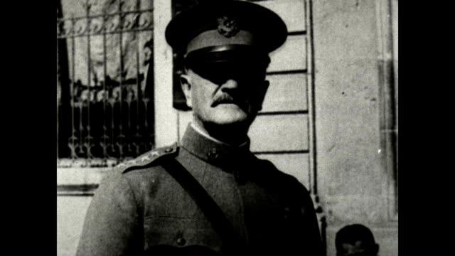 Allied Commanders French General Henri Petain British General Douglas Haig Ferdinand Foch American General John J 'Blackjack' Pershing From a US Army...