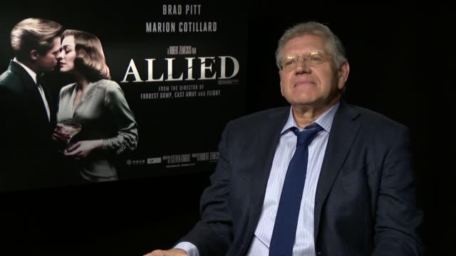 'allied' film interviews marion cotillard interview sot / robert zemeckis interview sot - robert zemeckis stock videos and b-roll footage
