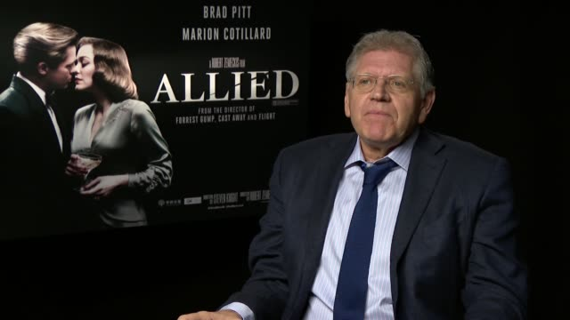 'allied' film interviews robert zemeckis interview sot - robert zemeckis stock videos and b-roll footage