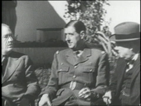 allied leaders meet during world war ii - chiang kai shek stock-videos und b-roll-filmmaterial