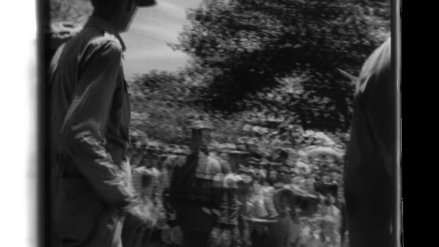 allied prisoners work at a prison labor camp after the battle of corregidor surrender in the philippines. - prisoner of war stock videos & royalty-free footage