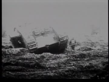 allied tanks in battle during wwi - world war one stock videos & royalty-free footage