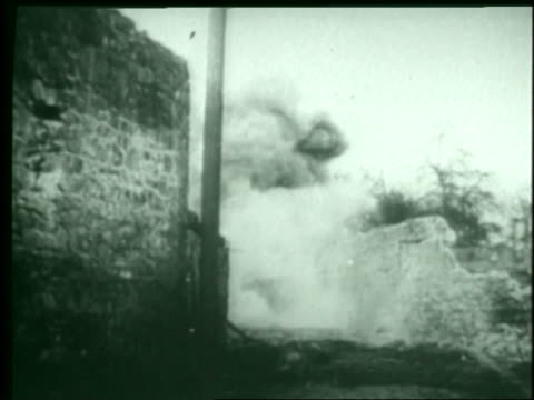 allied troops fight their way to paris near the end of world war ii. - alliierte stock-videos und b-roll-filmmaterial