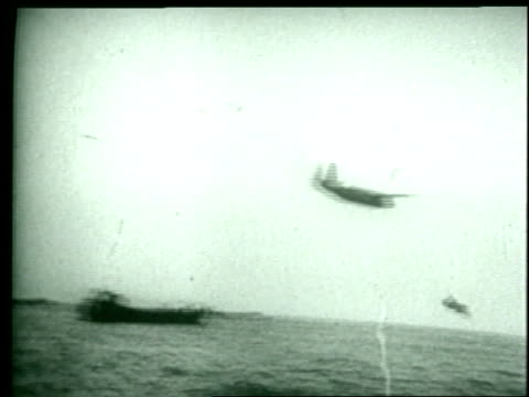 allied troops land in normandy on june 6, 1944. - allied forces stock videos & royalty-free footage