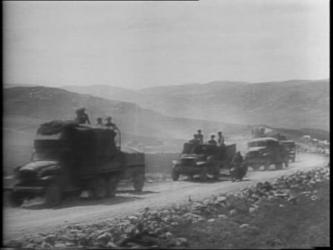 allied troops march and trucks move along road to find mateur empty / 8 kilometer marker for mateur along road / marching / 4 kilometer marker /... - map marker stock videos and b-roll footage