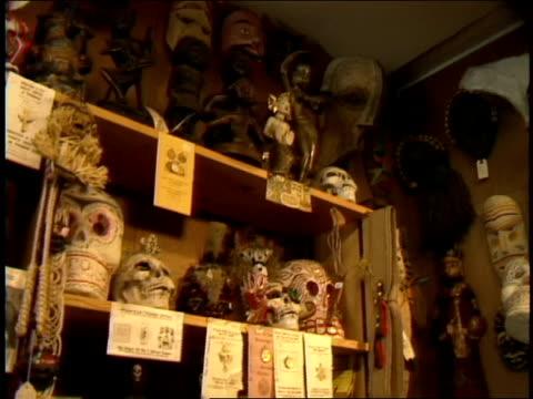 vídeos y material grabado en eventos de stock de alligator heads and skulls on shelves - luisiana