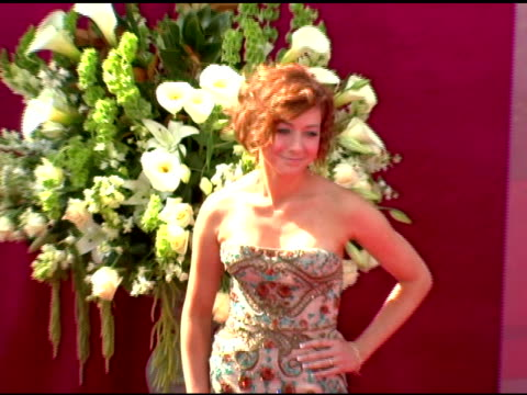 Allison Hannigan at the 2005 Emmy Awards at the Shrine Auditorium in Los Angeles California on September 18 2005